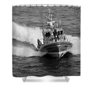 Coast Guard In Black And White Shower Curtain