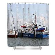 Coast Guard Maasholm Harbor Shower Curtain