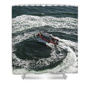 Coast Guard Ship - Port Of Los Angeles Shower Curtain