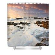 coast of Crete 'II Shower Curtain