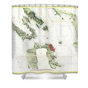 Coast Survey Map Of San Francisco Bay And City Shower Curtain