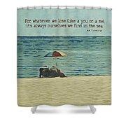 Coastal Beach - E.e. Cummings Sea Quote Shower Curtain