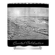 Coastal Calibration Shower Curtain