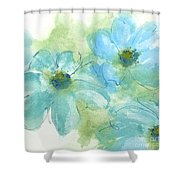 Coastal Cosmos 1 Shower Curtain