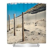 Coastal Dunes In Holland 2 Shower Curtain