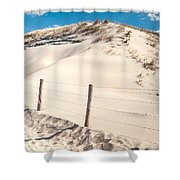Coastal Dunes In Holland Shower Curtain