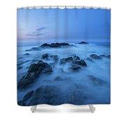 Coastal Landscape At Trollskjeran Shower Curtain