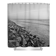 Coastal Lines Shower Curtain