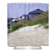 Coastal Living In Topsail Beach Nc Shower Curtain