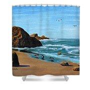Coastal Oregon II Shower Curtain