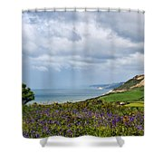 Coastal Overlook From Eype Shower Curtain