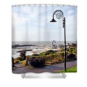 Coastal Overview At Lyme Regis Shower Curtain