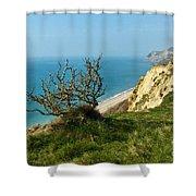 Coastal Path - West Bay To Eype  Shower Curtain