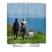 Coastal Path Walk Shower Curtain