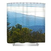 Coastal Range And Clouds From West Point Inn On Mount Tamalpias-california Shower Curtain