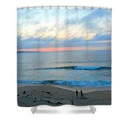 Coastal Ribbon Candy Shower Curtain