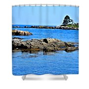 Coastal Route 1 In Maine Shower Curtain