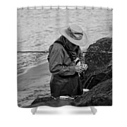 Coastal Salmon Fishing Shower Curtain