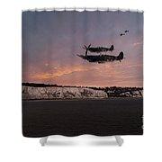 Coastal Spitfires Shower Curtain