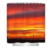 Coastal Sunset Shower Curtain