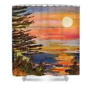 Coastal Sunset Shower Curtain