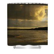 Coastal Winters Afternoon 2 Shower Curtain by Amy-Elizabeth Toomey