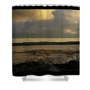 Coastal Winters Afternoon 3 Shower Curtain