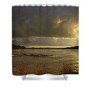 Coastal Winters Afternoon Shower Curtain