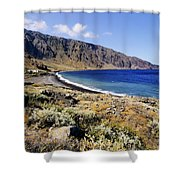 Coastline Of Hierro Island Shower Curtain
