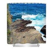 Coastline Splendor Shower Curtain