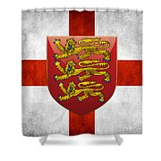 Coat Of Arms And Flag Of England Shower Curtain