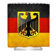 Coat Of Arms And Flag Of Germany Shower Curtain