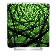 Coaxial Jungle Shower Curtain