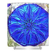 Cobalt Mandala  Shower Curtain