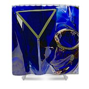 Cobalt Therapy Shower Curtain