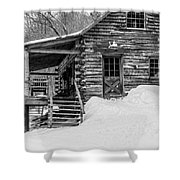 Slayton Pasture Cobber Cabin Trapp Family Lodge Stowe Vermont Shower Curtain