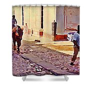 Cobble Stone Streets Of Cuba Shower Curtain