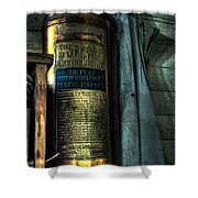 Cobblers Fire Extinguisher Shower Curtain