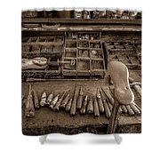 Cobblers Tools Bw Shower Curtain