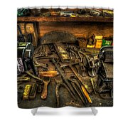 Cobblers Workbench Shower Curtain