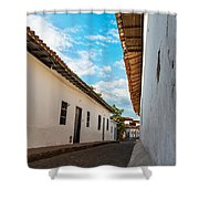 Cobblestone Street Shower Curtain