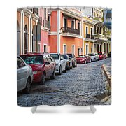 Cobblestone Streets Of San Juan Puerto Rico Shower Curtain