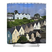 Cobh Town Houses Shower Curtain