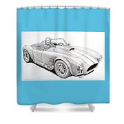 Ac Ford Cobra With 427  Shower Curtain