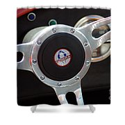 Cobra Steering Wheel Shower Curtain