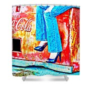 Coca-cola And Stiletto Heels Shower Curtain