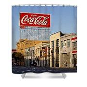 Coca Cola Billboard - San Francisco, California Usa Shower Curtain