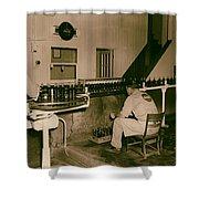 Coca Cola Bottling Line 1950s Shower Curtain