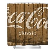 Coca Cola Classic Barn Shower Curtain