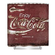 Coca Cola Faded Sign Shower Curtain